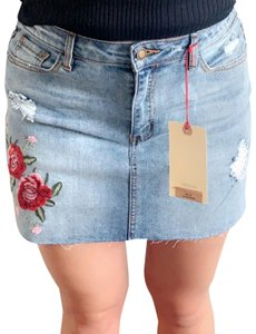 Angel Kiss Mini Skirt Blue