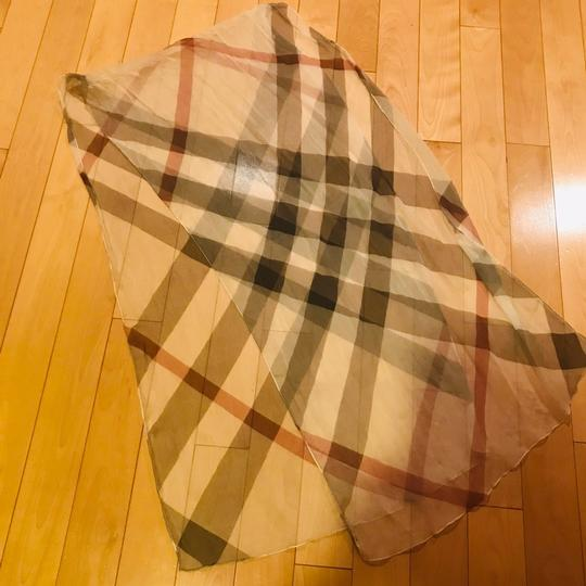 Burberry Burberry Long Silk Check Scarf Image 2