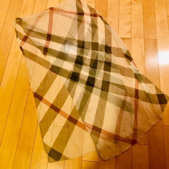 Burberry Burberry Long Silk Check Scarf Image 3
