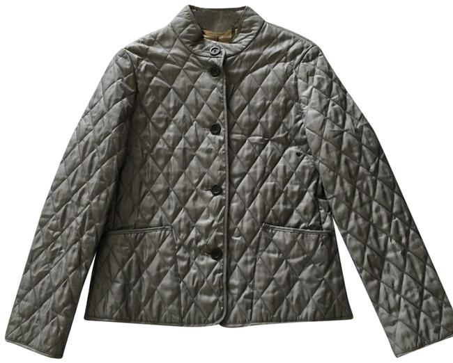 Item - Grey Quilted Jacket Size 8 (M)