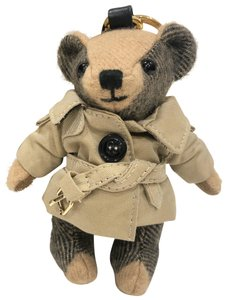 Burberry Thomas Bear Trench Coat Check Cashmere Bag Charm