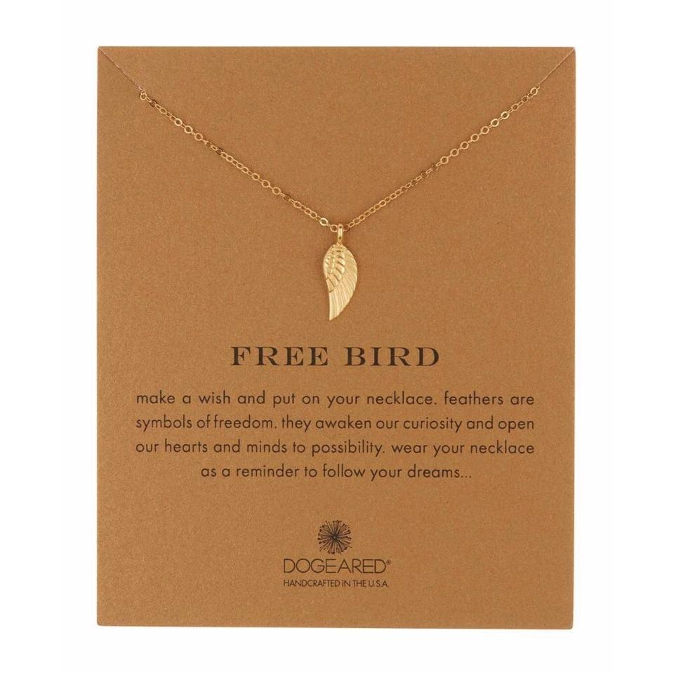 ff837caa0 Dogeared NEW Dogeared - 14K Gold Plated Sterling Silver Free Bird Angel  Wing Necklace Image 0 ...
