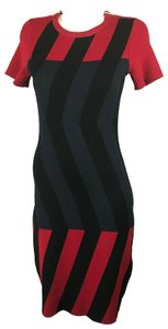 Kenzo short dress Red Black on Tradesy