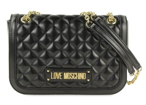 Love Moschino Faux Leather Quilted Gold Hardware Shoulder Bag