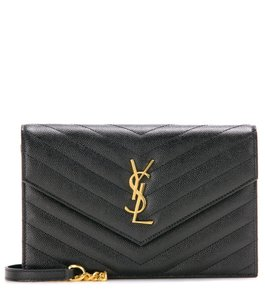 790b8542fa38 Saint Laurent Monogram Envelope Wallet On Chain Chain Envelope Envelope  Wallet Chain Wallet Cross Body Bag