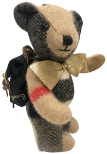 Burberry Thomas Rucksack Backpack Bear Check Cashmere Bag Charm
