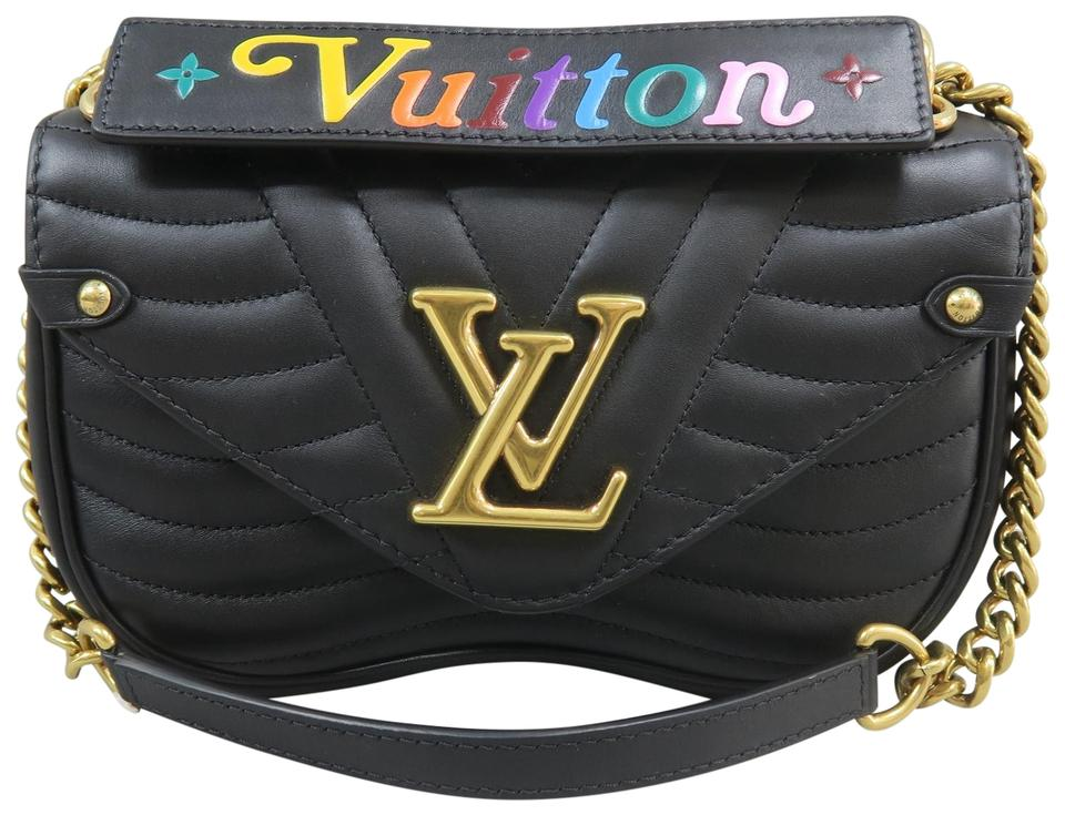 ae2911ce0c30 Louis Vuitton New Wave Chain Pm Black Calfskin Leather Shoulder Bag ...