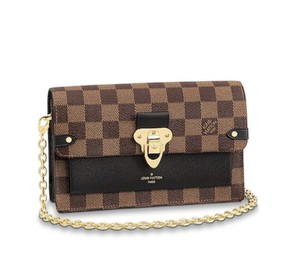 Louis Vuitton Lv Damierebene Leather Cross Body Bag