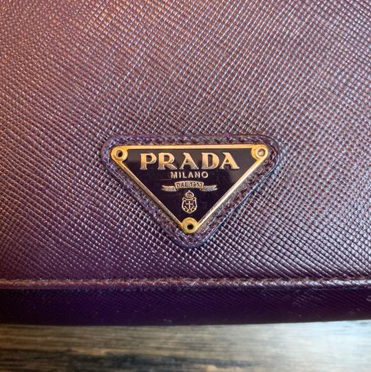 Prada Prada Saffiano Leather Flap Wallet Image 1