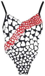 Anna Sui Heart Ruffle Low Back Swim Suit