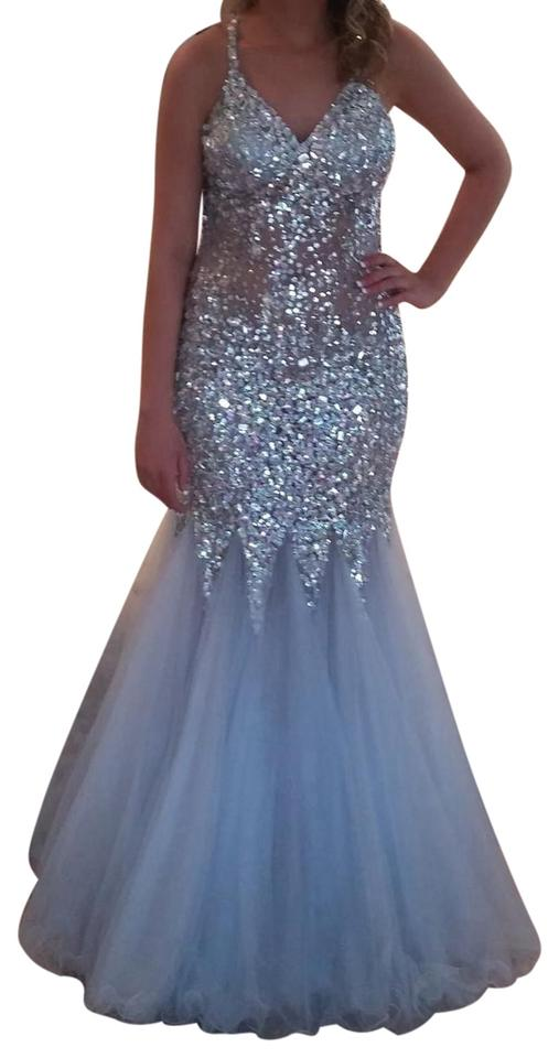 e28eb3c663 Alexia Designs Sequins Beading Mermaid Style Prom Gown Tulle Dress Image 0  ...