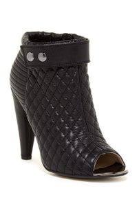 6e8c30825 Kristin Cavallari Leather Quilted Open Toe Ankle Black Boots