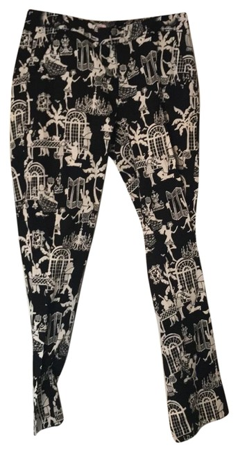 Item - Black and Ivory Multi Trouser Pants Size 4 (S, 27)