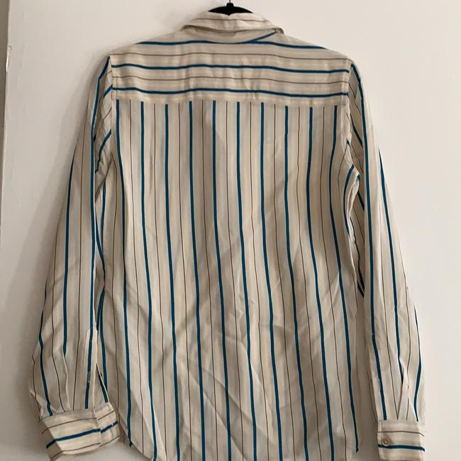 Equipment Silk Striped Blouse Size Small S Button Down Shirt Image 1