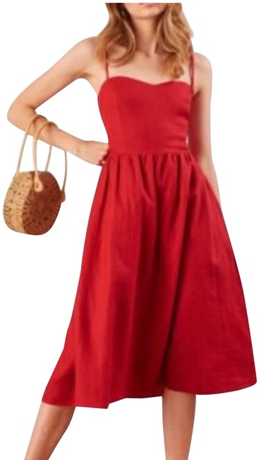 Item - Lipstick Red Mid-length Night Out Dress Size 12 (L)