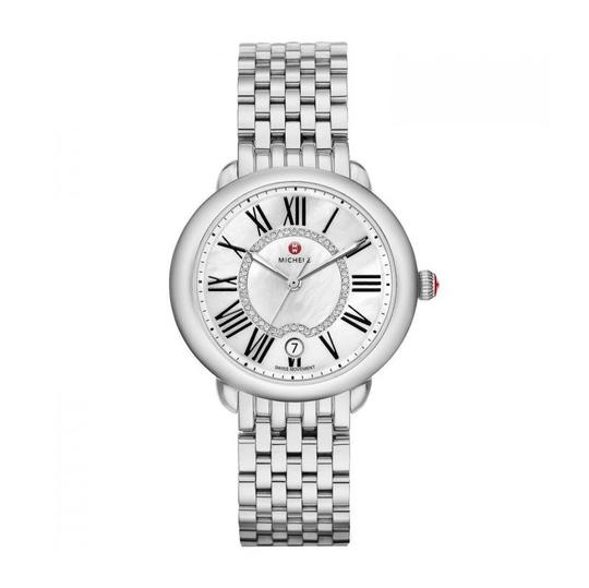 Michele Serein 16 Mid Stainless Steel MOP Diamond Dial MWW21B000009 Image 4