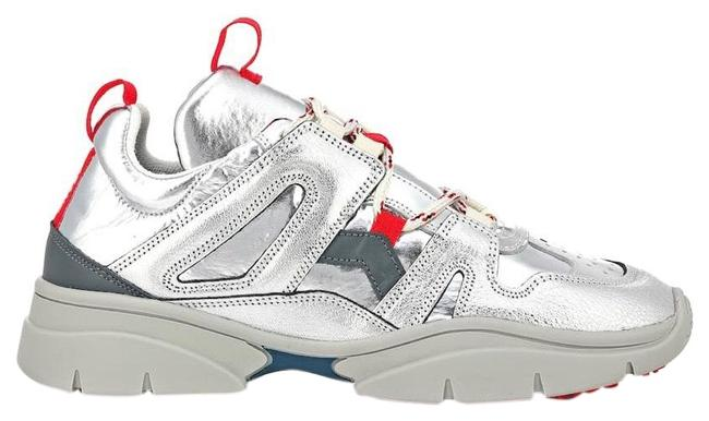 Item - Silver Red Sneakers Size US 7 Regular (M, B)