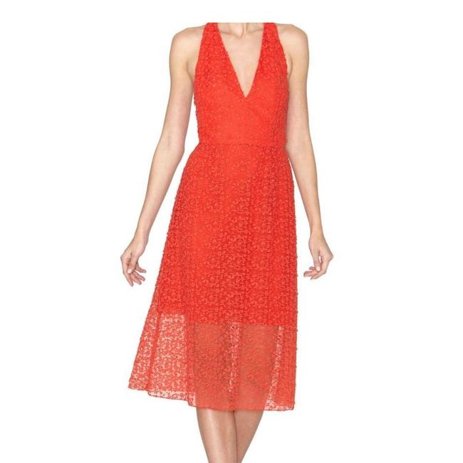 Item - Poppy Red Orange Noreen Mid-length Night Out Dress Size 10 (M)