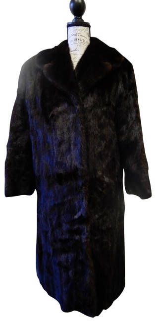 Item - Black L Brown Mahogany Mink Full Length M-l Coat Size 12 (L)