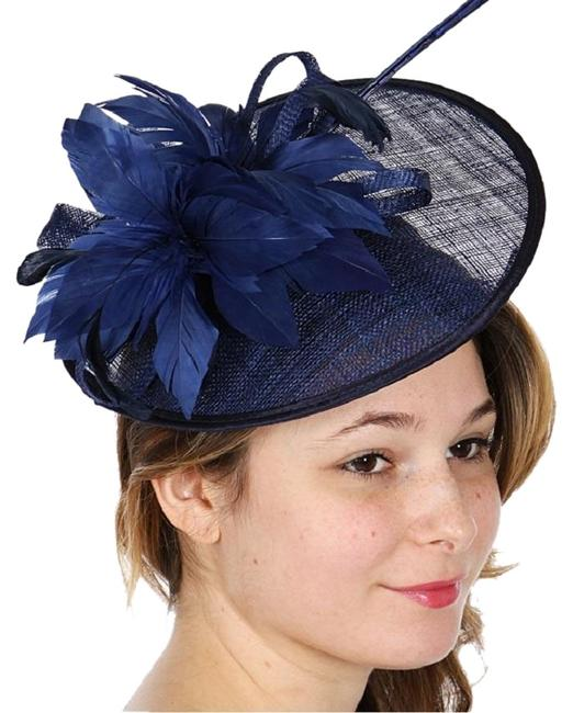 Unbranded Navy New Cocktail Formal Hat Unbranded Navy New Cocktail Formal Hat Image 1