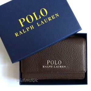 Polo Ralph Lauren Brown Leather Card Holder Men's Jewelry/Accessory