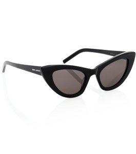 Saint Laurent NEW Saint Laurent Lily SL 213 Black Cat Eye Sunglasses