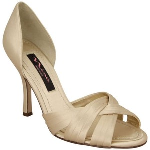 Nina Shoes Ivory Open-toe Satin Wedding Shoes