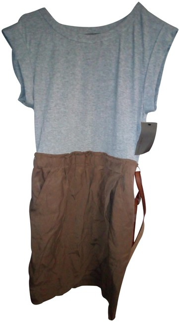 Item - Brown/ Grey With Pockets Mid-length Work/Office Dress Size 2 (XS)