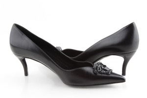 Versace Medusa Kitten Heel Black Pumps