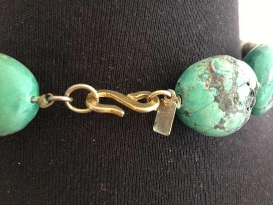 Kenneth Jay Lane Authentic Vintage Turquoise, Gold Tone S clasp