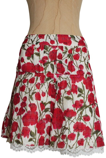 Item - Red Ivory Anna Sui Russelliana Skirt Size 4 (S, 27)