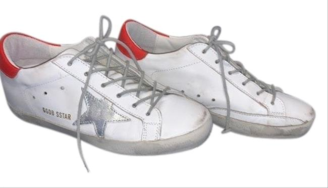 Item - White with Red and Silver Superstar Ggdb Sstar Sneakers Size US 7 Regular (M, B)