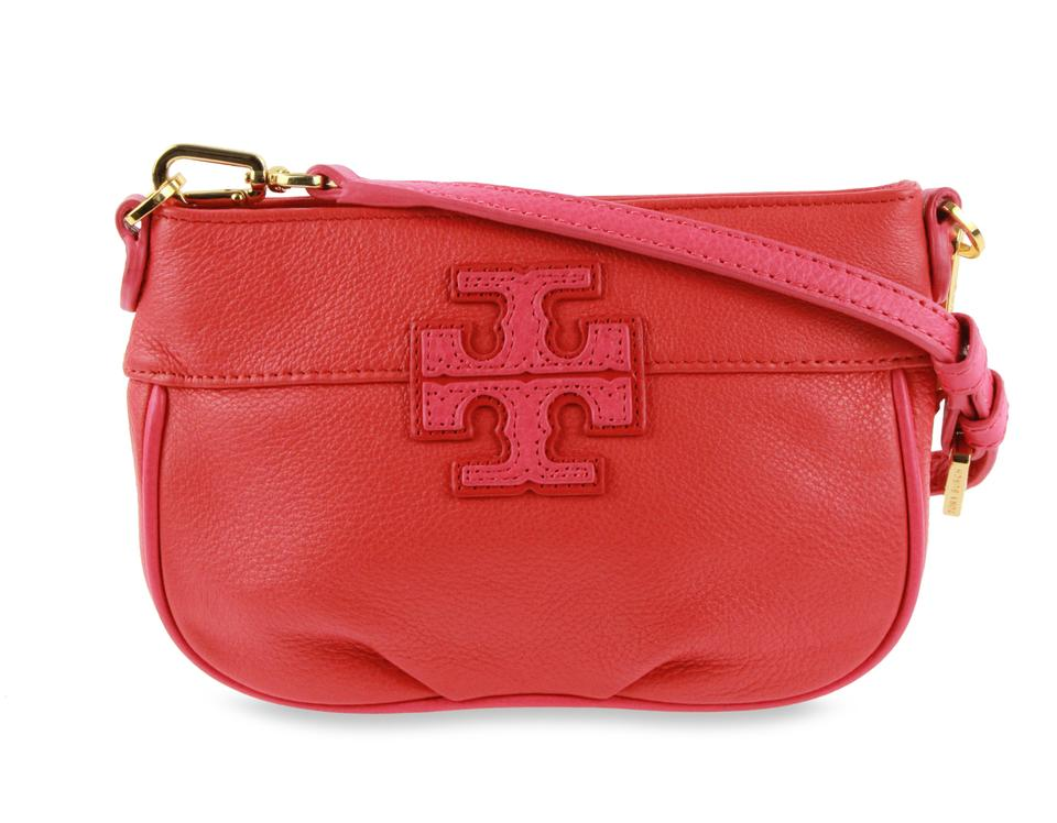 82ac829b8ce Tory Burch T Stacked Small Poppy Red   Multiple Leather Cross Body ...