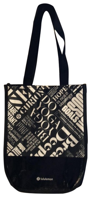 Item - Small Reusable Shopper Black White Nylon Tote