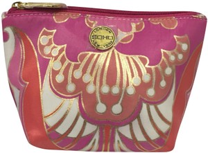 Soho London New York Nwt Multicolored Gold White Pink Purple Orange Cosmetic Bag