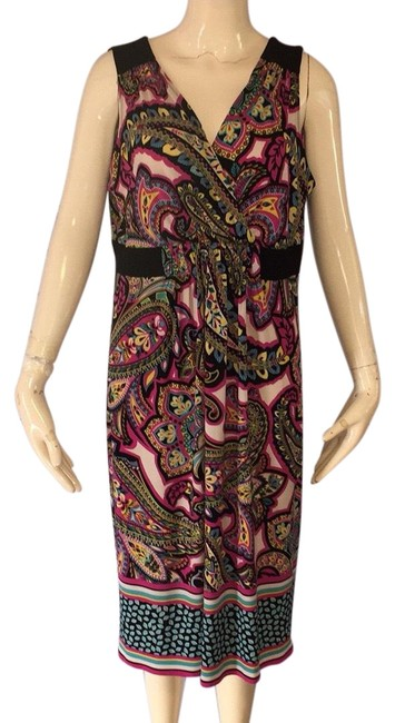 Item - Pink and Black Mid-length Casual Maxi Dress Size 14 (L)