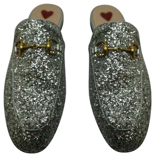 Item - Silver Glitter Princetown Leather Women's Loafers Mules/Slides Size EU 35 (Approx. US 5) Regular (M, B)