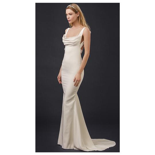 Katie May Barcelona Low Back Gown Modern Wedding Dress Size 8 (M) Image 2
