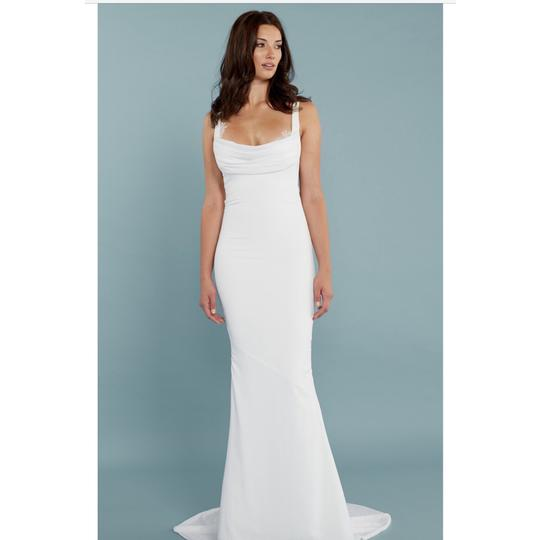 Katie May Barcelona Low Back Gown Modern Wedding Dress Size 8 (M) Image 4