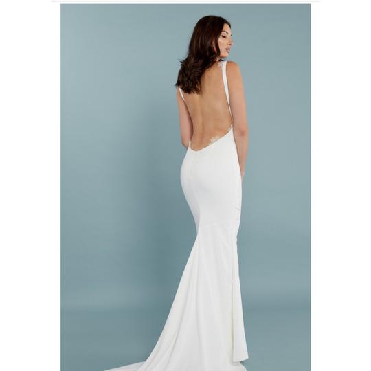 Katie May Barcelona Low Back Gown Modern Wedding Dress Size 8 (M) Image 5