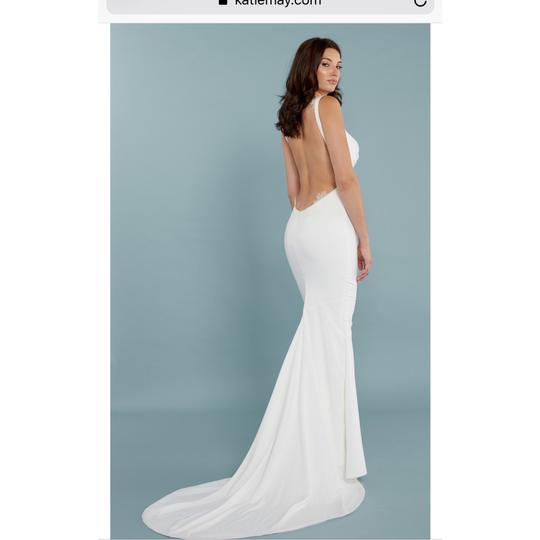 Katie May Barcelona Low Back Gown Modern Wedding Dress Size 8 (M) Image 6