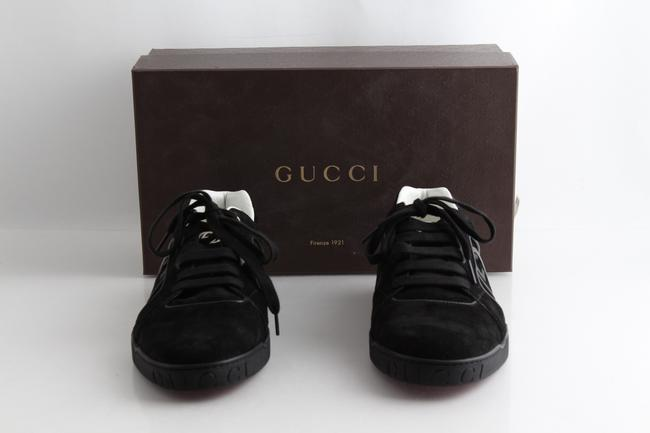 Item - Black Suede Interlocking Gg Logo Sneakers Shoes