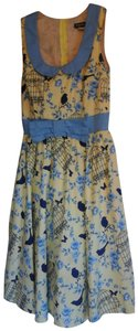 Modcloth short dress Yellow bird print Date Night Night Out Retrolicious on Tradesy