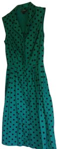 Modcloth short dress Green with black polka-dot Date Night Night Out Emily And Fin on Tradesy