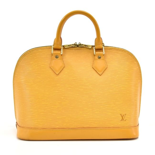 Item - Handbag Yellow Alma In Epi Leather. with Its Shapes Invented By Gaston In The 1930's Alma Is Now A A Hobo Bag