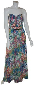 Multi-Color Maxi Dress by adelyn rae Maxi Strapless Floral