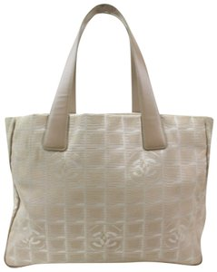 Chanel New Line Shopper Neverfull Tote in Beige