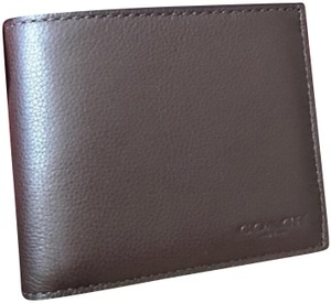 Coach coach Mens Leather Wallet With Gift Box