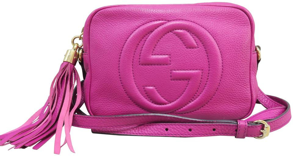 55abd98a98a Gucci Soho Disco Pink Calfskin Leather Cross Body Bag - Tradesy