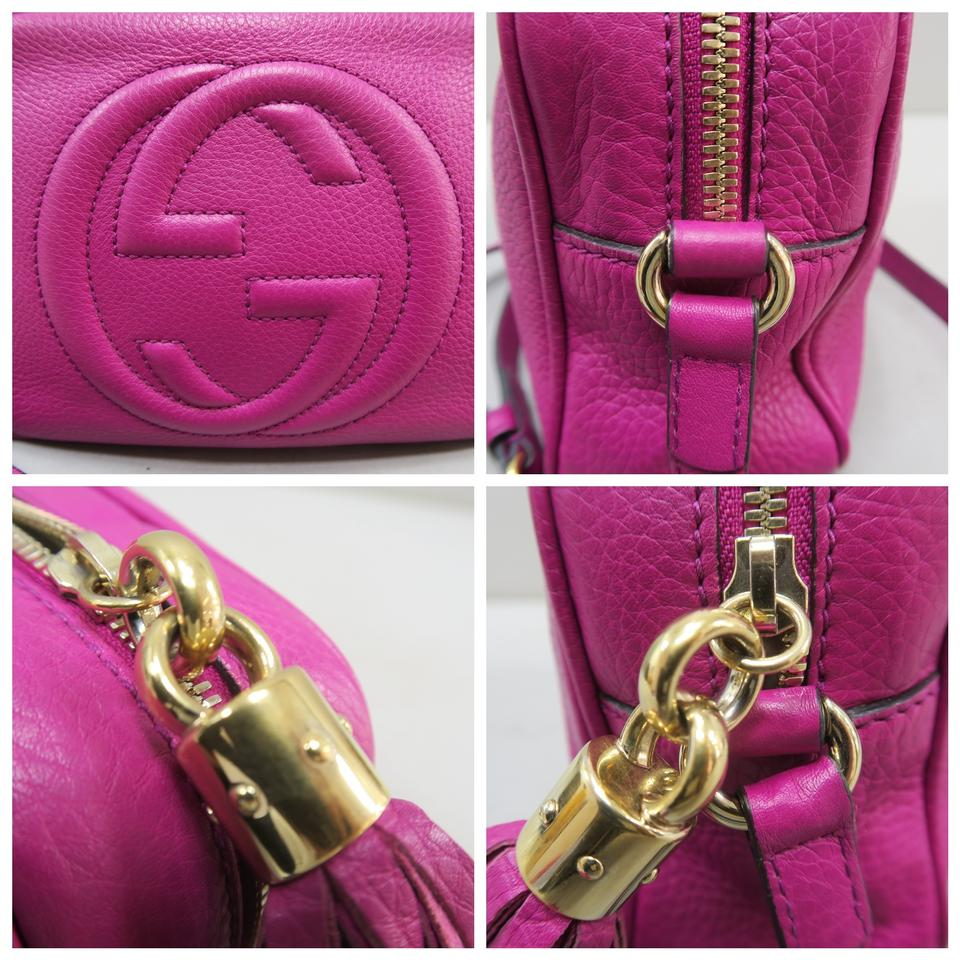 e3610afd2b9 Gucci Soho Disco Calfskin Fuchsia Cross Body Bag Image 11. 123456789101112